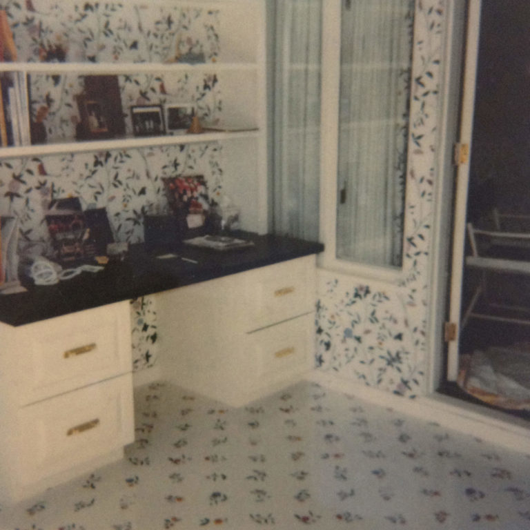 Walls and Floor Papered with Coordinating Patterns